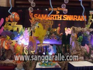 dekorasi ulang tahun tema nemo